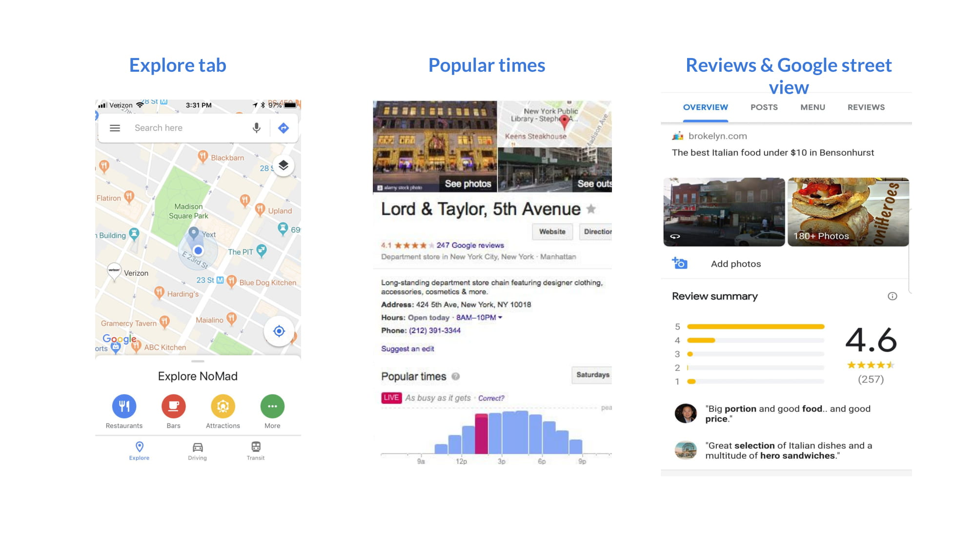 Advances that Google made in Google Reviews