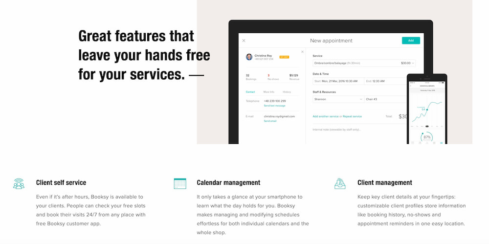 Types of services Booksy offers to its marketplace suppliers.
