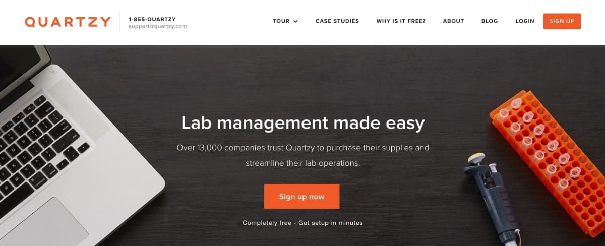 Quartzy - SaaS enabled marketplace platform for lab management and supply