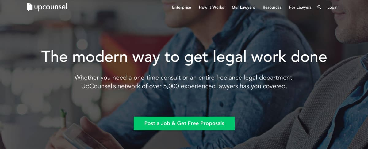 UpCounsel - online marketplace software for lawyers
