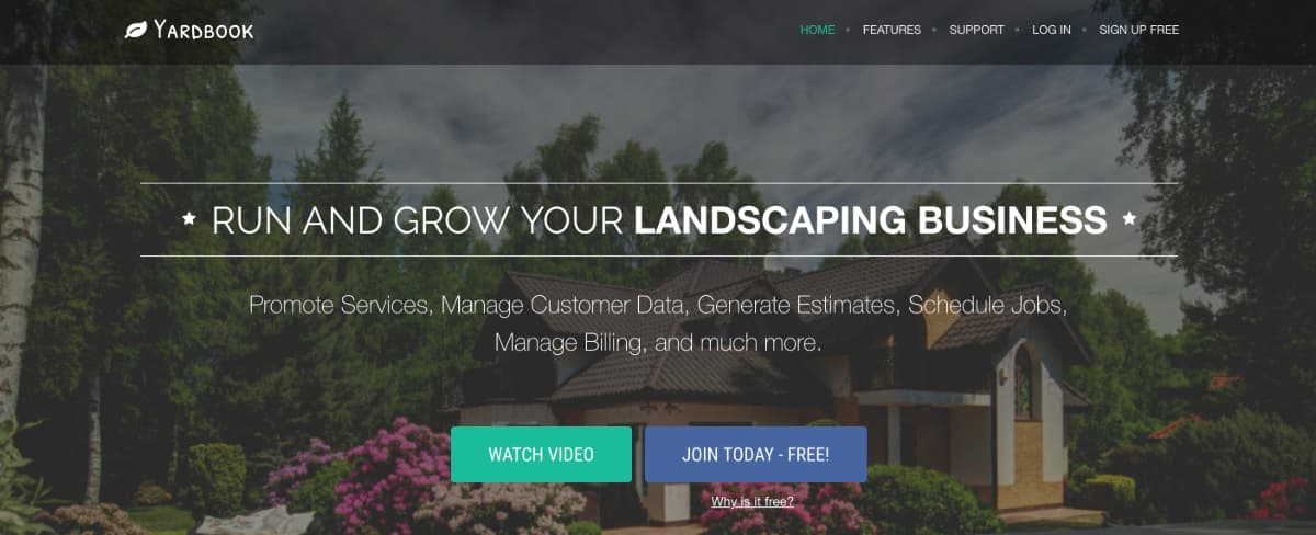 Yardbook - subscription-based online marketplace platform for Landscapers who want to grow their business